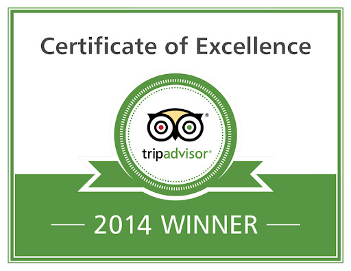 2014 Trip Advisor Certificate of Excellence