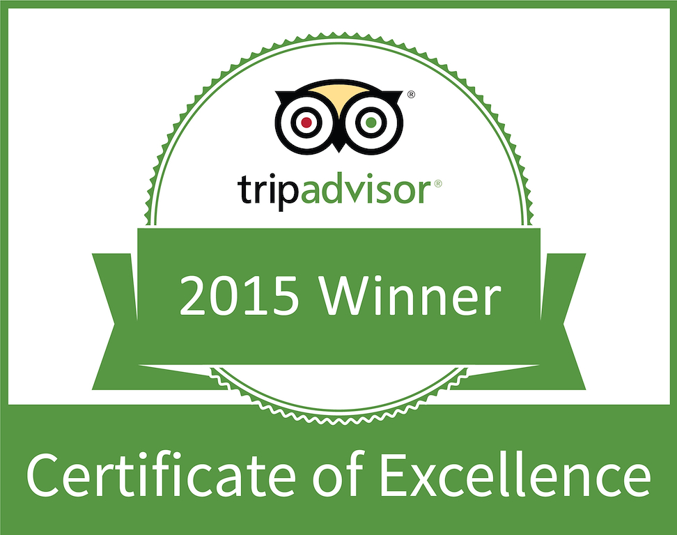 2015 Trip Advisor Certificate of Excellence