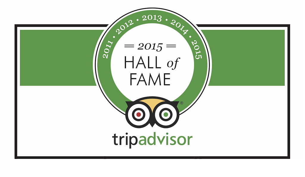 2015 Trip Advisor Hall of Fame