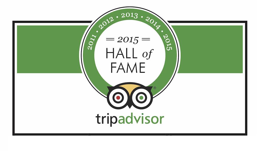 2015 Trip Advisor Hall of Fame
