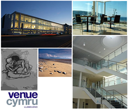 Venue Cymru is positioned on the promenade with breathtaking sea views from many of the conference and meeting spaces
