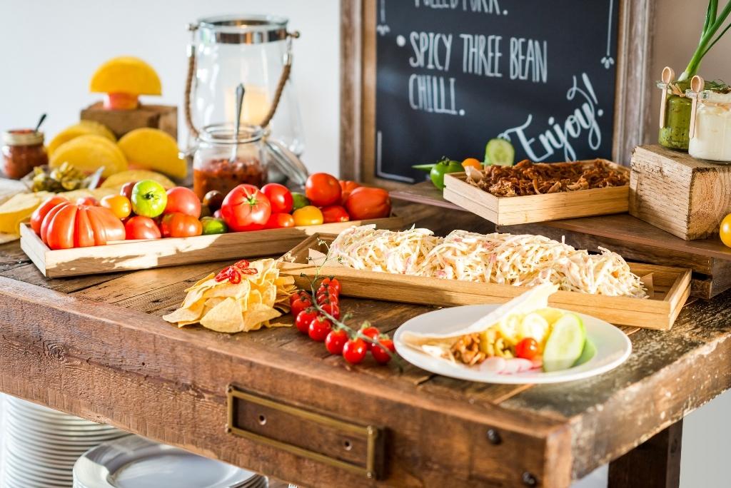 Taco station - informal dining