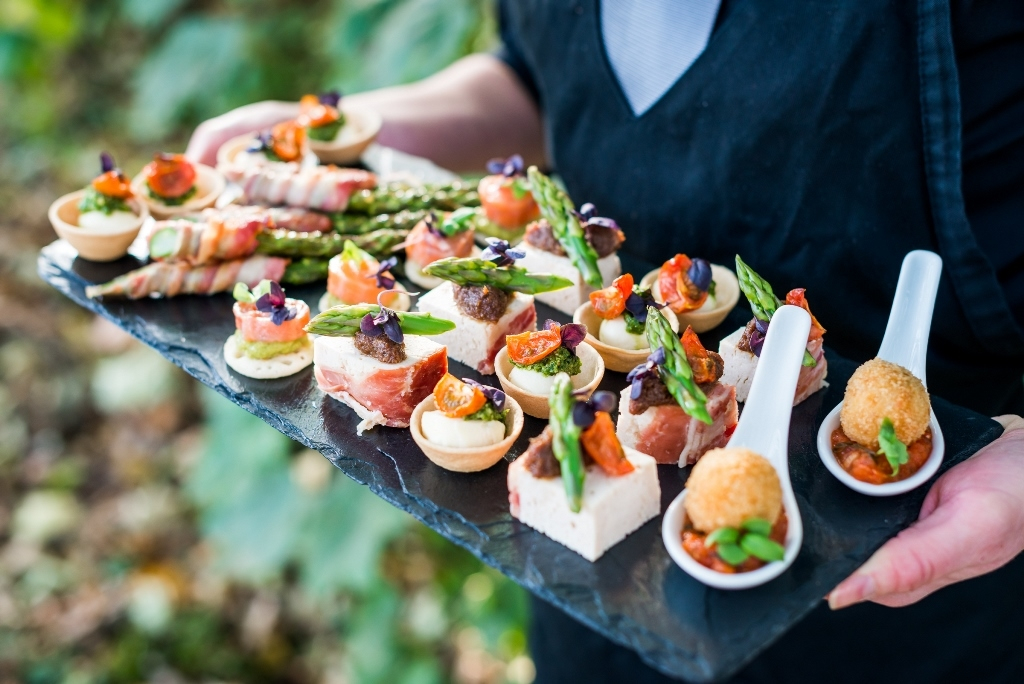 Canapes for networking or product launches