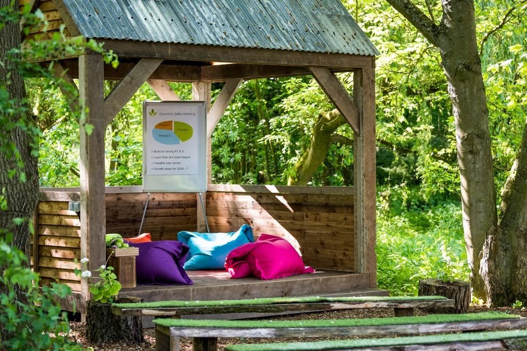 The Hideaway outdoor meeting room
