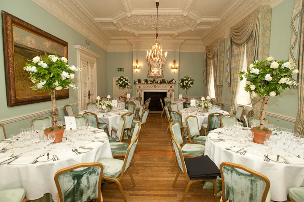 Dining in Long Drawing Room