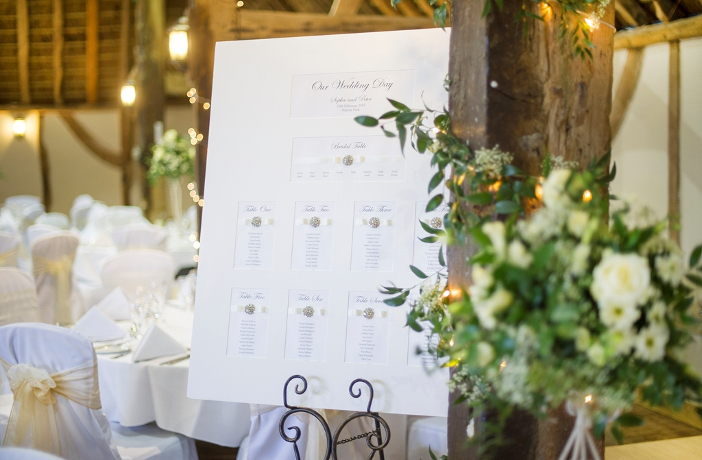 Hampshire Barn Table Plan