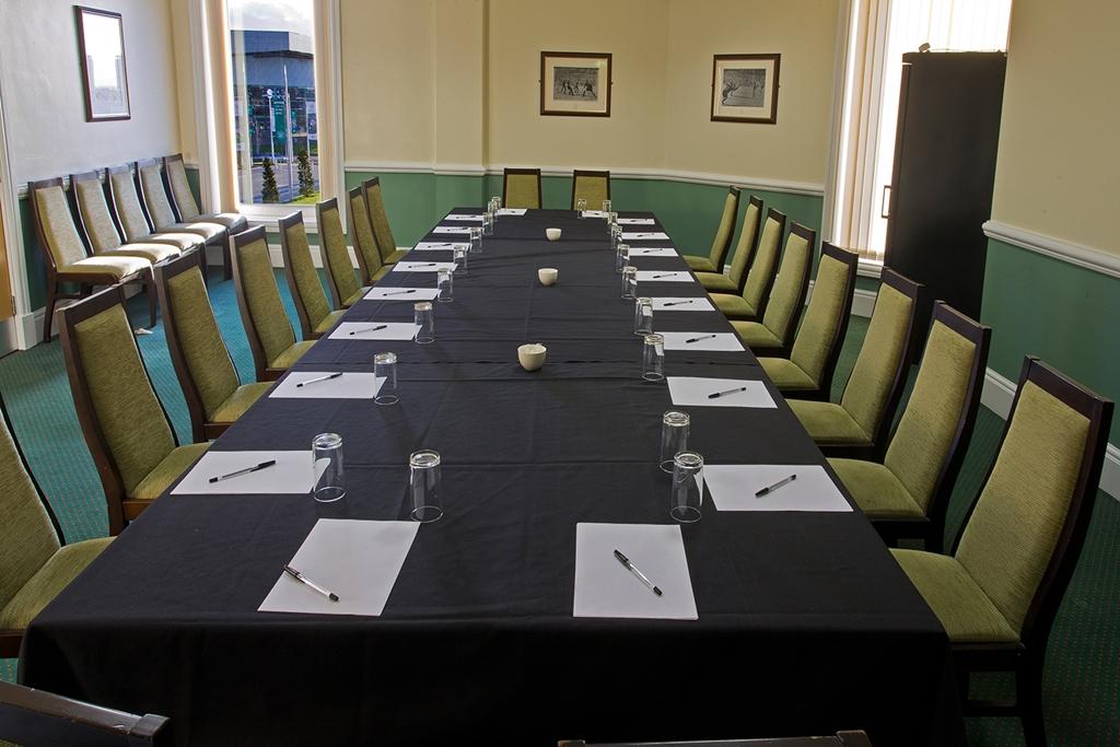 Celtic Suite - boardroom set up
