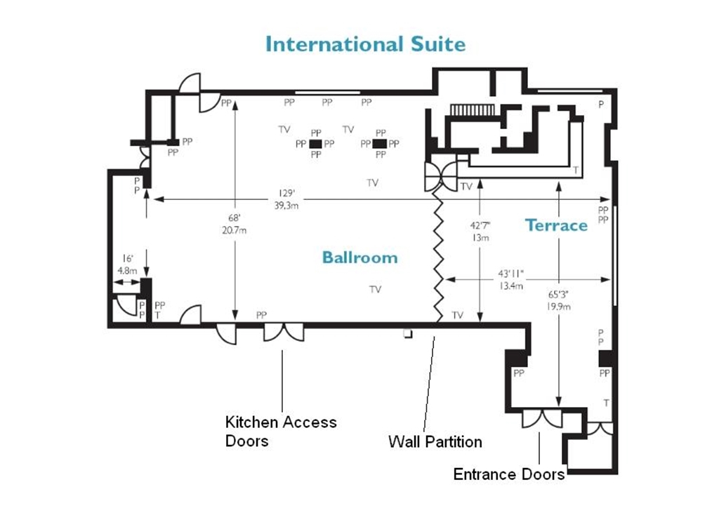 International Suite Floor Plan
