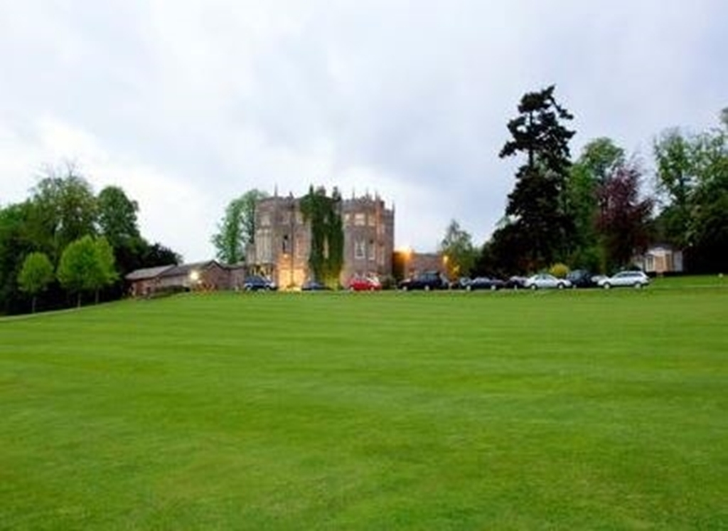 Looking towards the manor