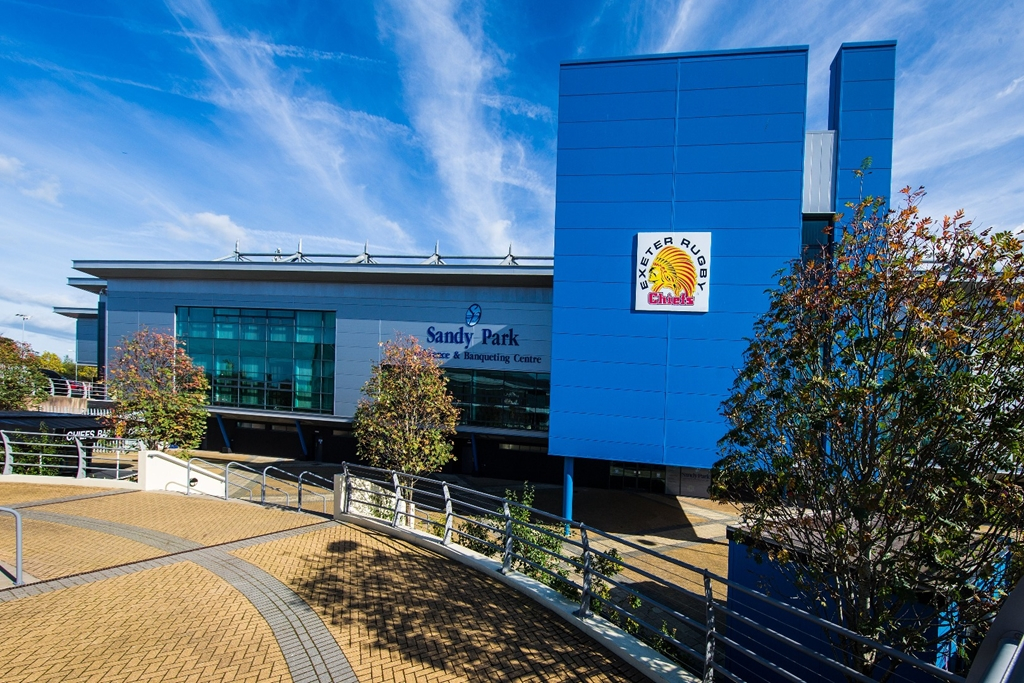 The front of Sandy Park