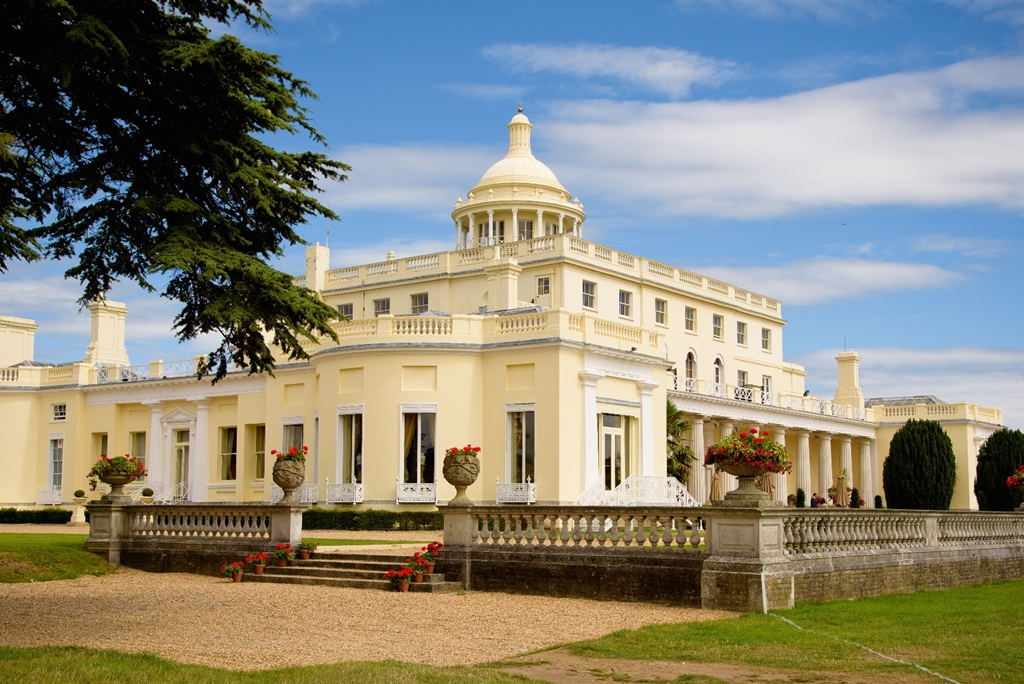 Stoke Park Mansion view from the West Gardens