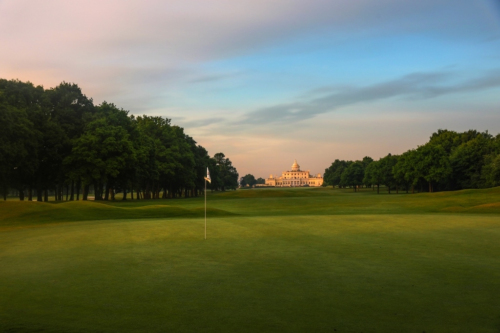 The Mansion- view from the 1st Green- Stoke Park Golf Course