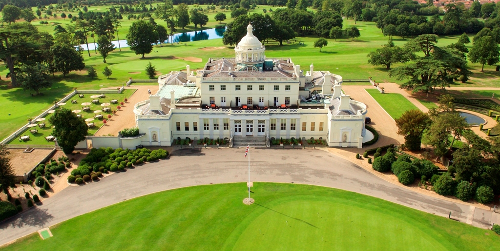 Stoke Park Mansion aerial view 1