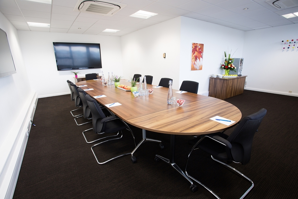 The Maple Boardroom Set Up