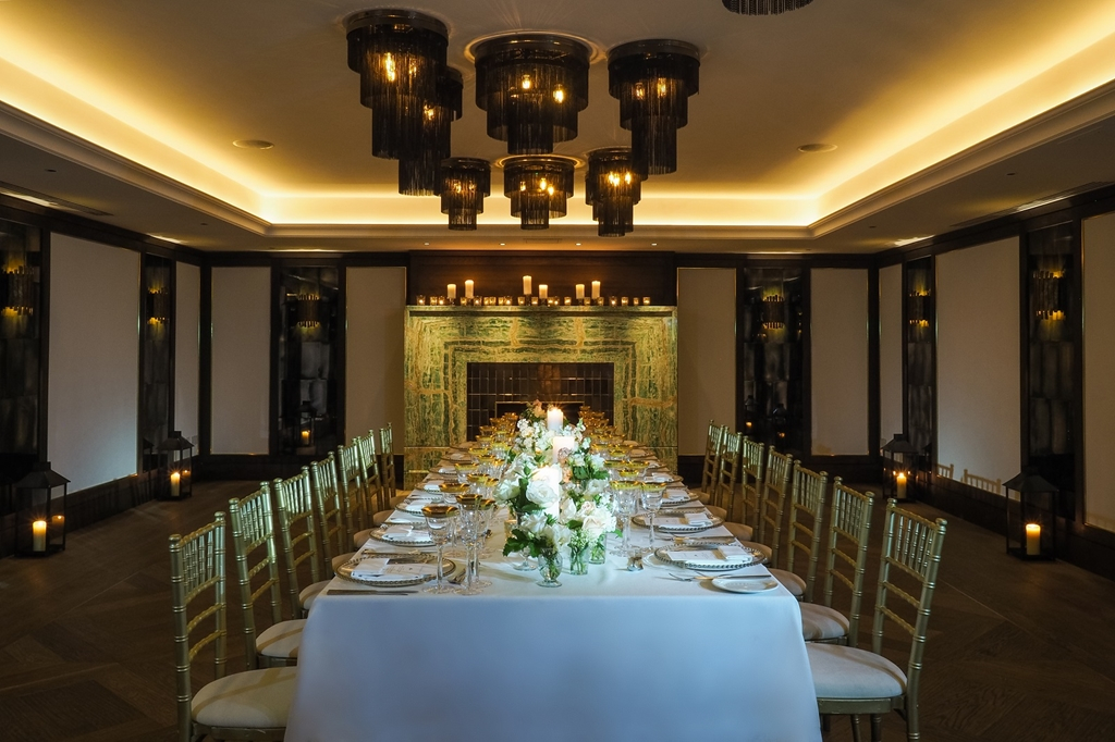 May Fair Wedding Private dining room