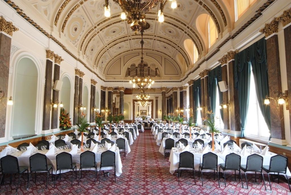 Herringbone Layout in Banqueting Room