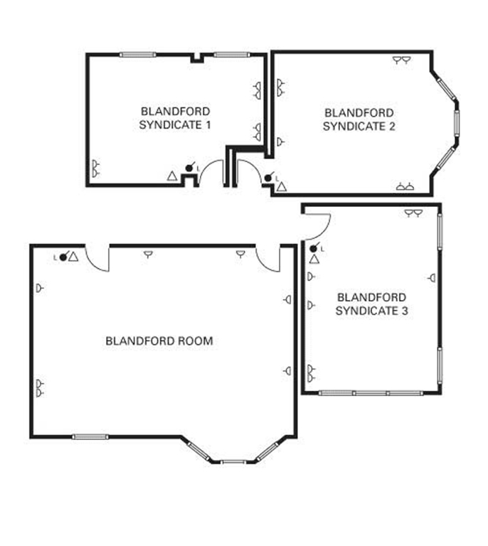 Blandford main and syndicates floor plan