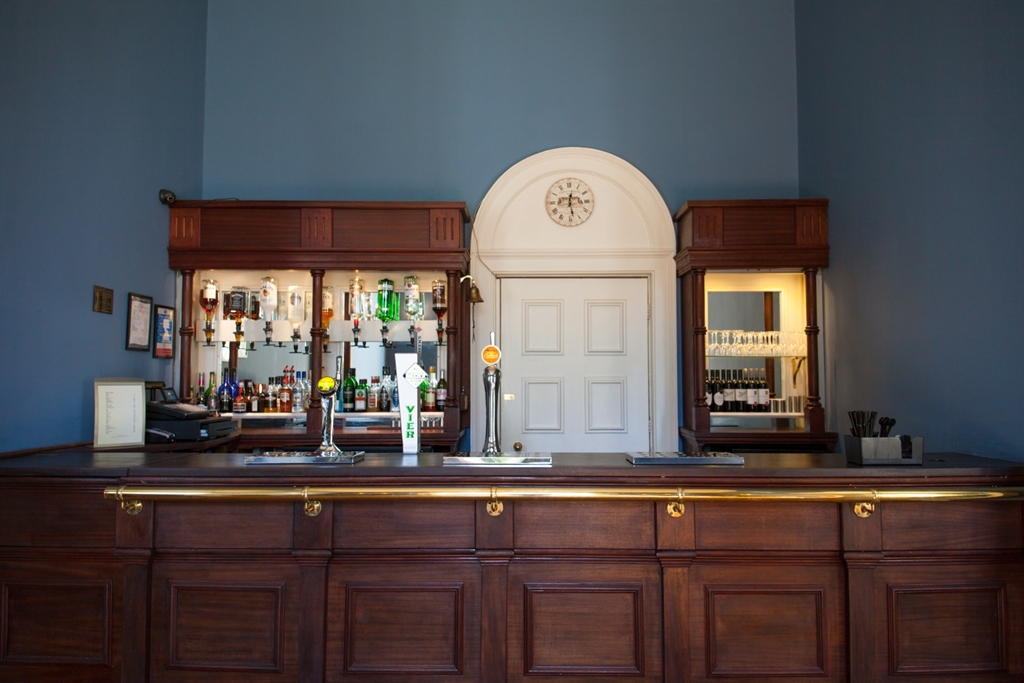 The bar at Leigh Court
