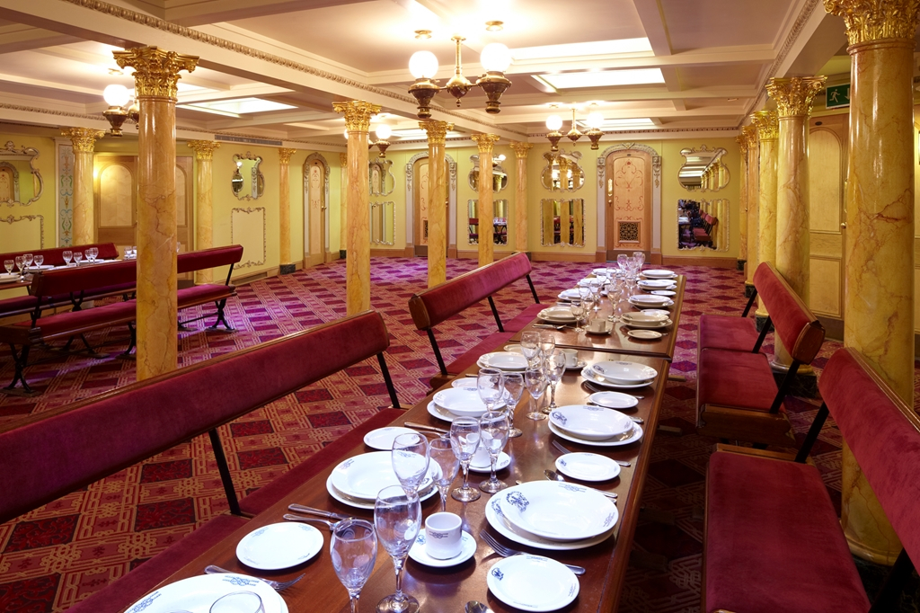 First Class Dining Saloon laid for dinner