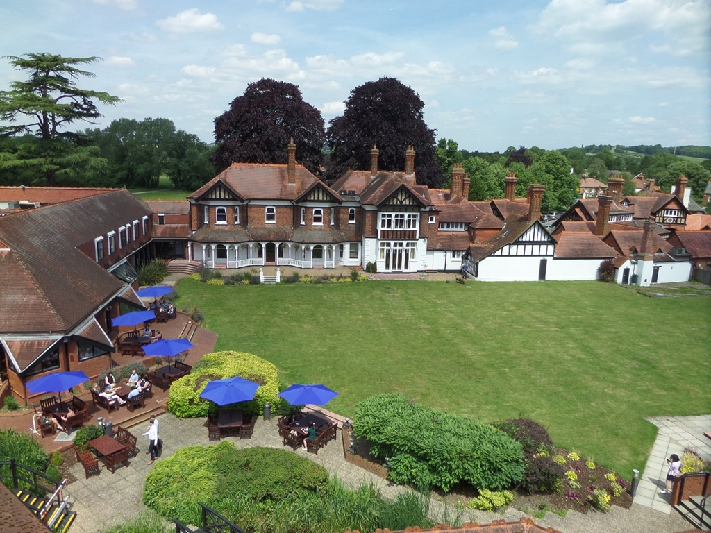 Aerial View of Manor House Lawns