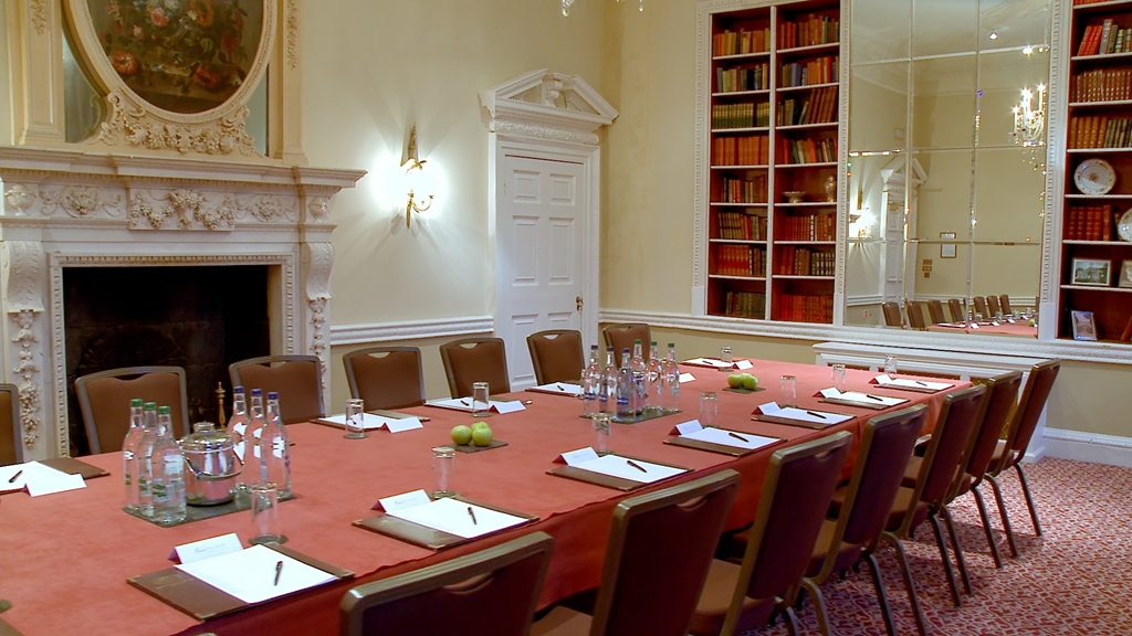 Library set Boardroom style