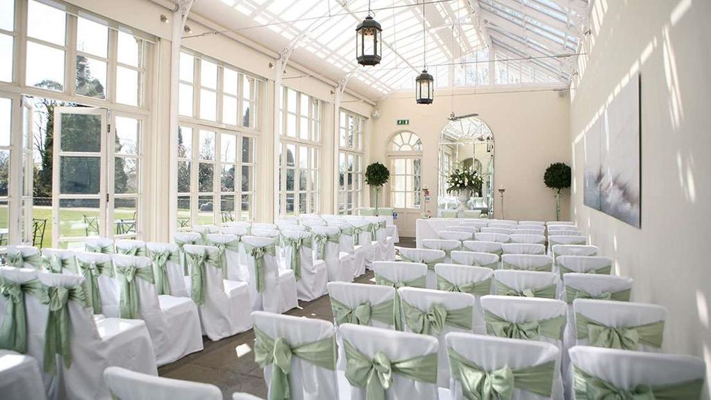 Conservatory wedding ceremony