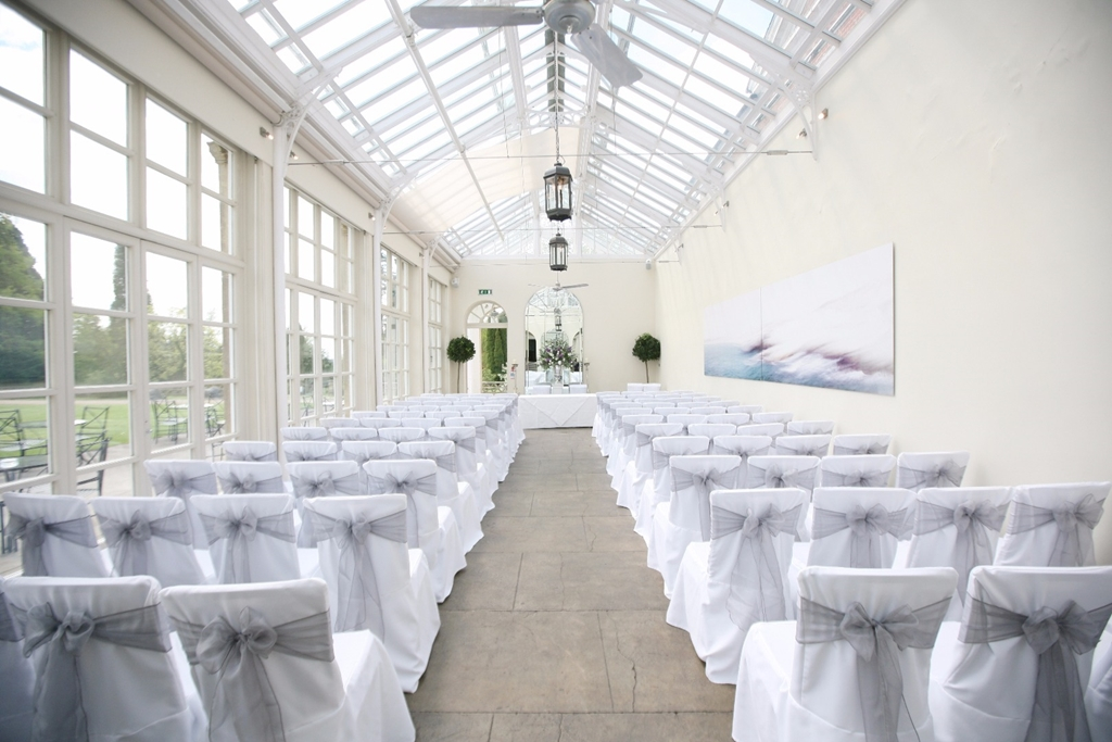 The Orangery set for a Wedding Ceremony