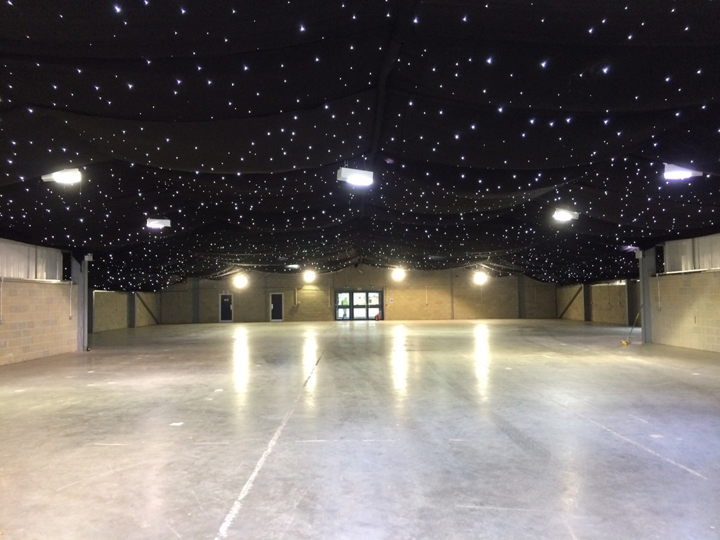 Queens Jubilee Hall with star cloth