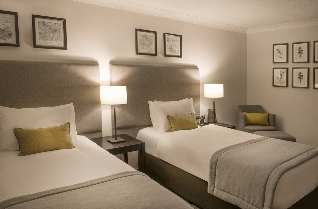 Twin Guest Rooms located in our newly refurbished (2017) Wokefield Place