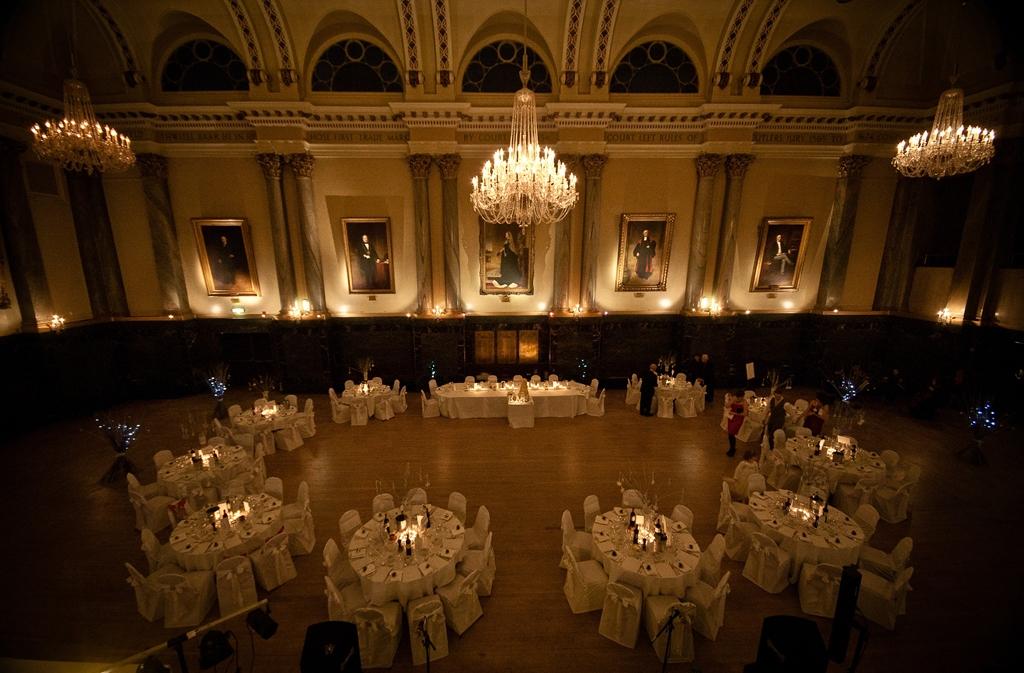 Main Hall circular set up