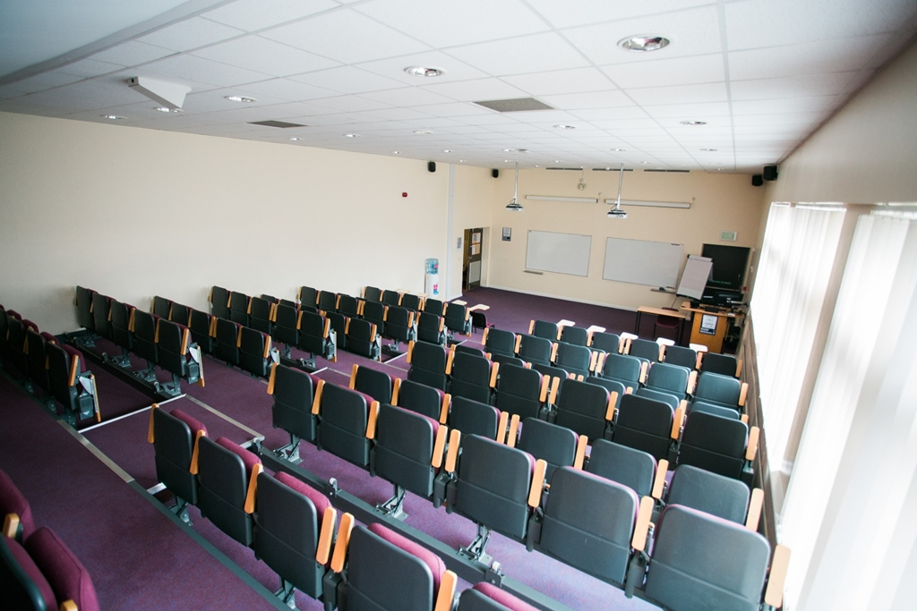 Tiered lecture theatre in Chancellor's Building