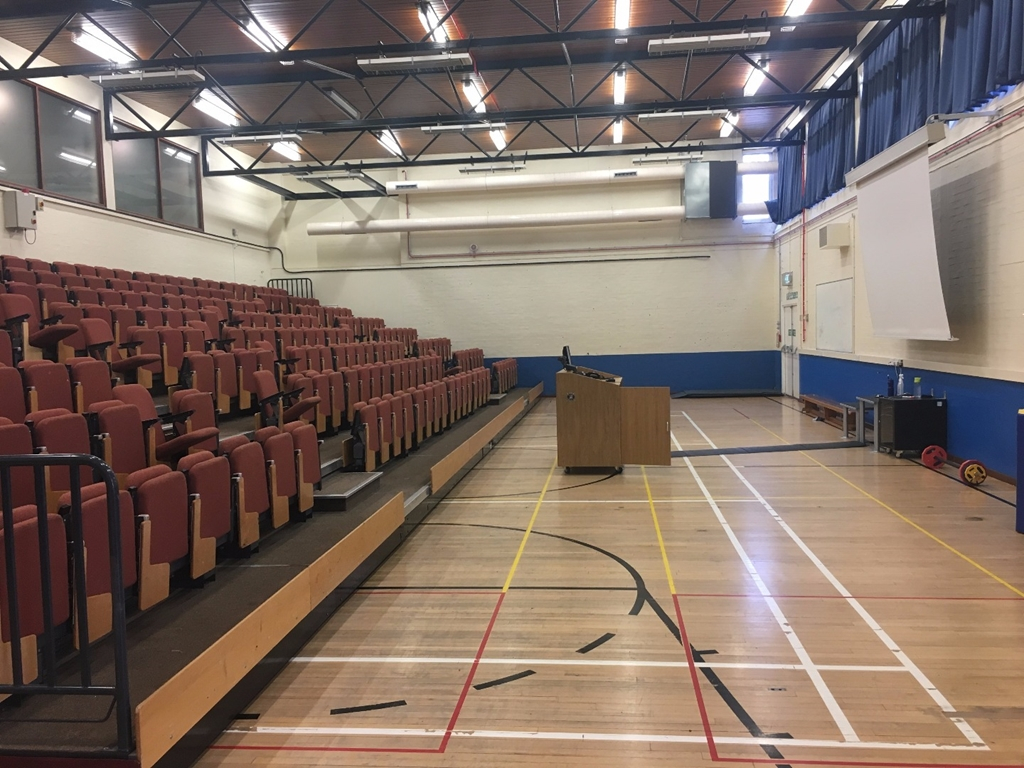 Gymnasium - Pull out lecture seats