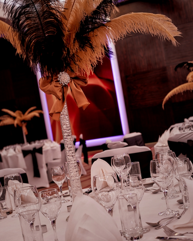 Ballroom Suite Dinner Feather Detail