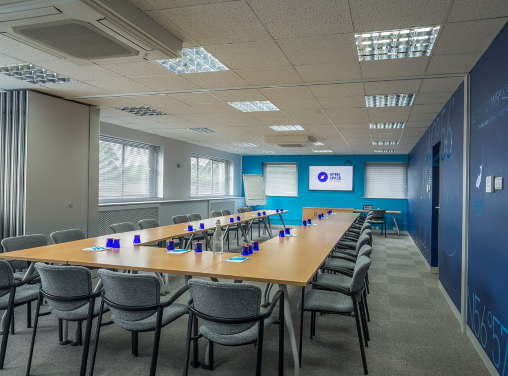 Need a space to get the team together? OS3 is great for 20- 60 guests
