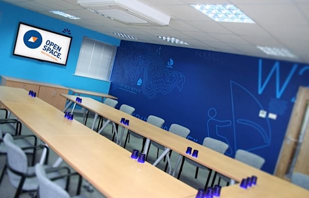 Our largest room benefits from both LCD wall mounted screens as well as a project - you choose!