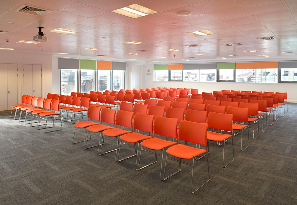 Climb - our largest event space seating up to 260 theatre style