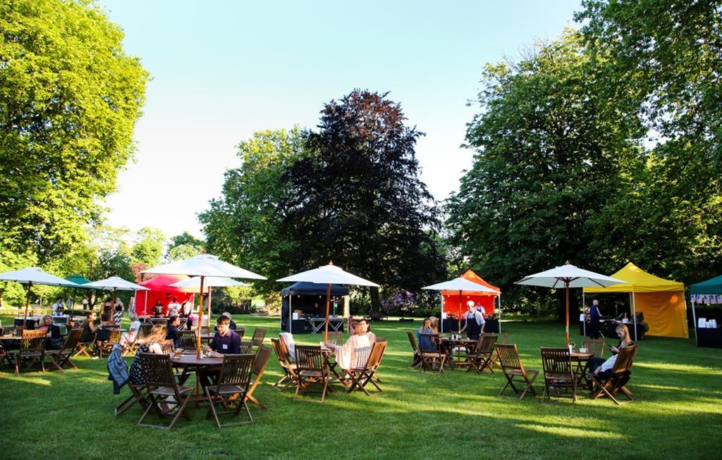 Street food stalls on York Lawns