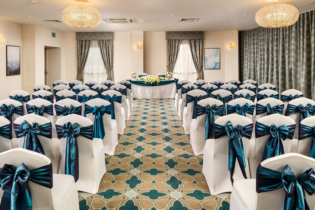 The Christleton room set for a civil ceremony