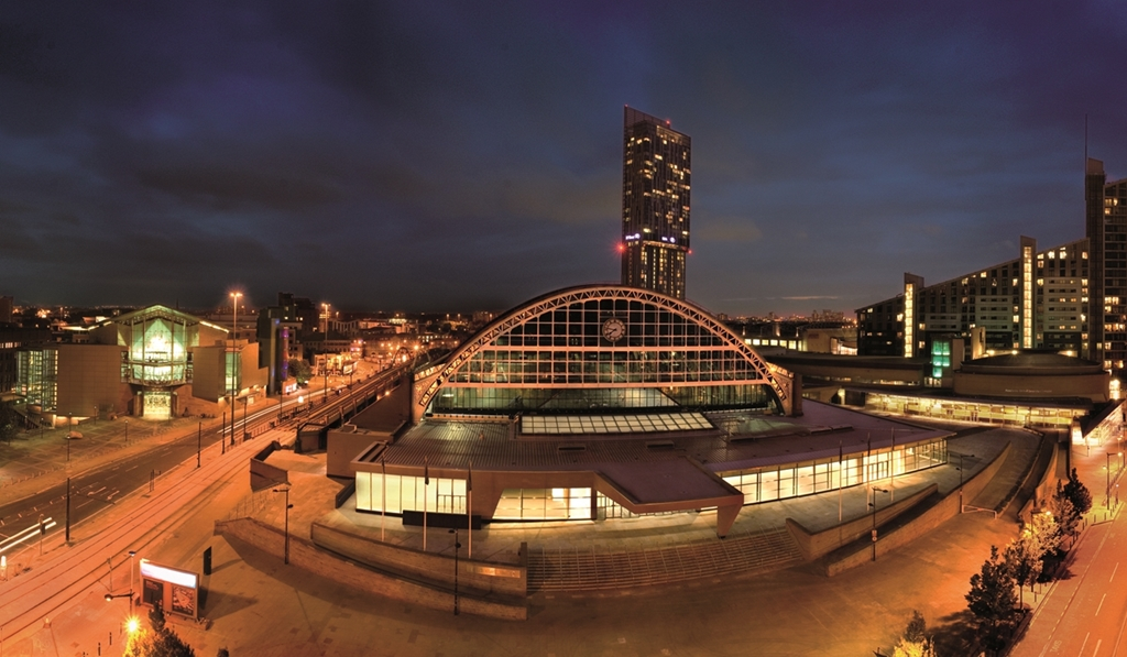 Manchester Central at night