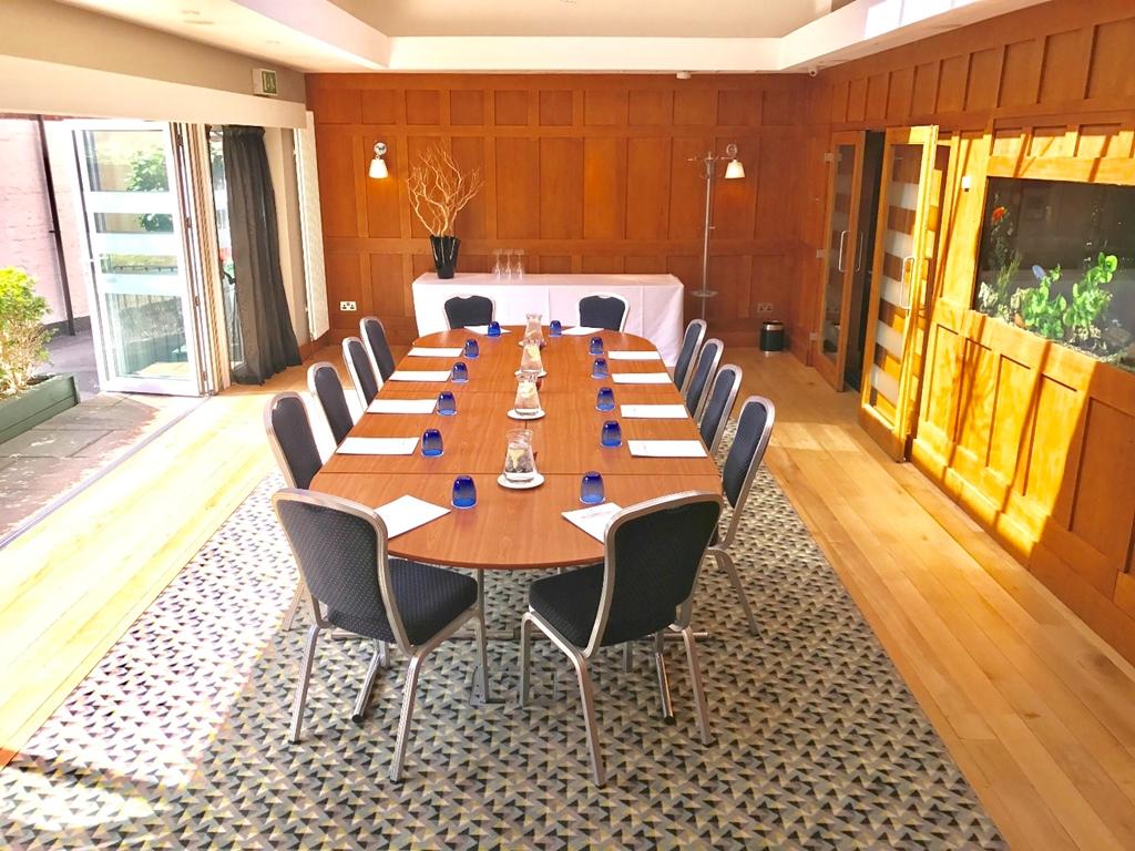 Oak Room - Boardroom, bi-fold doors open