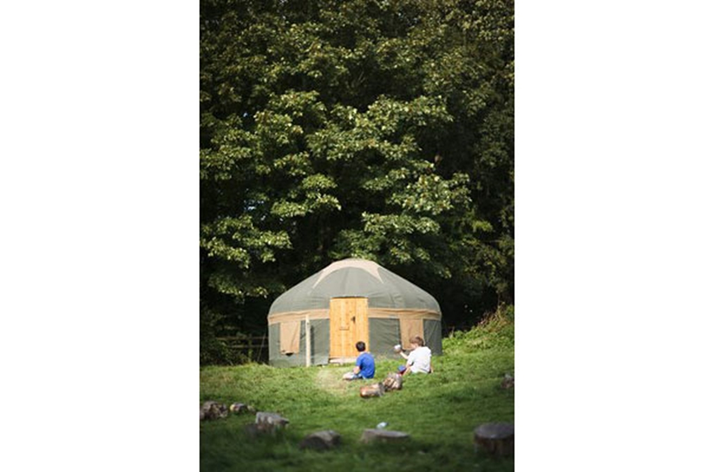 A yurt on site