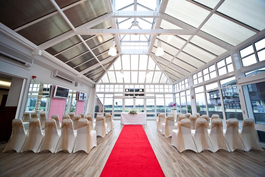 Wedding at Haydock Park - Champagne Bar