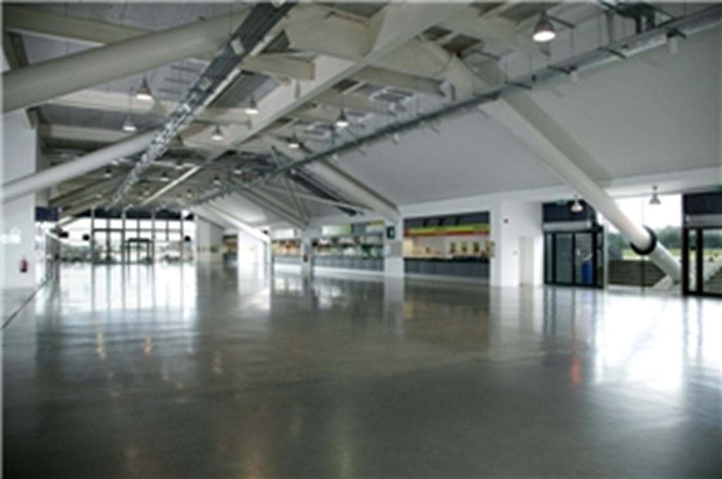 Grandstand ground floor - empty