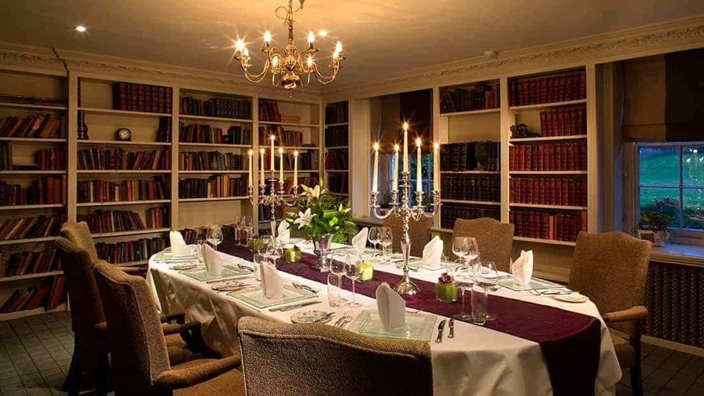 Chilston Park Hotel Shelley Mews Executive Double Bedroom The Library Private Dining